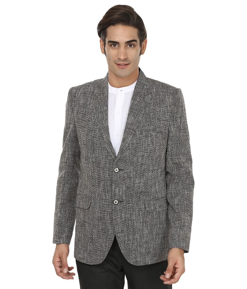 Wintage Solid Appeal Grey Blazer