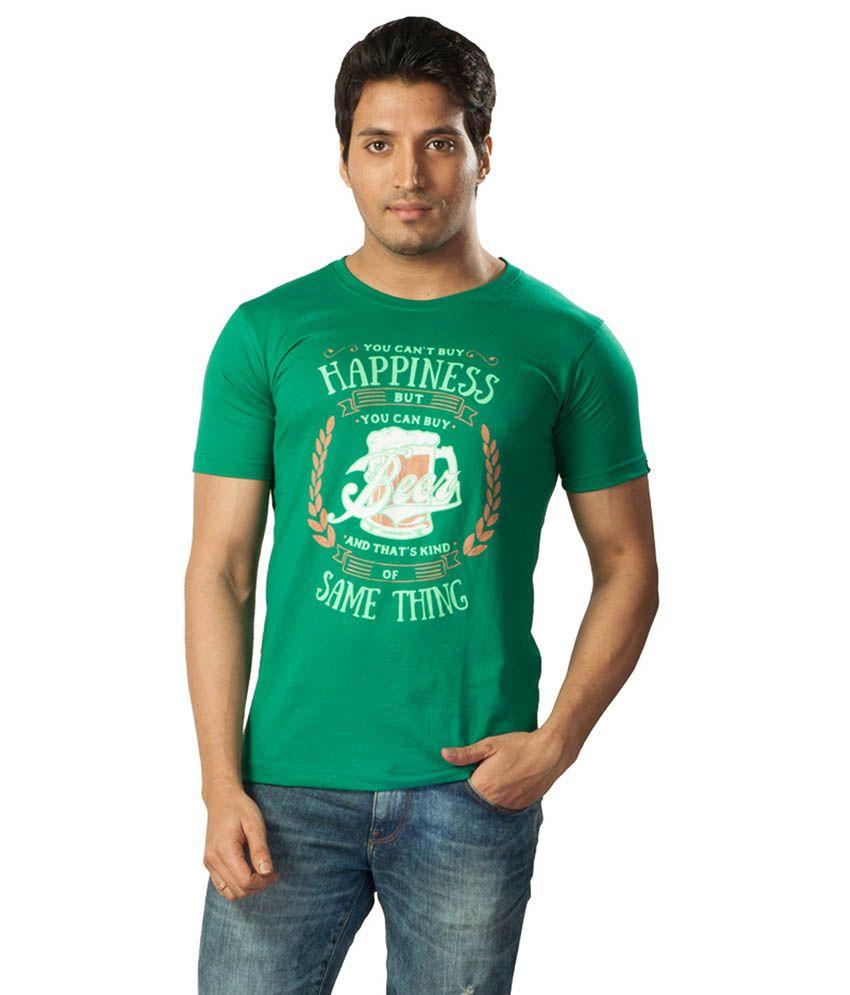 Voce Round Neck Green Tshirt