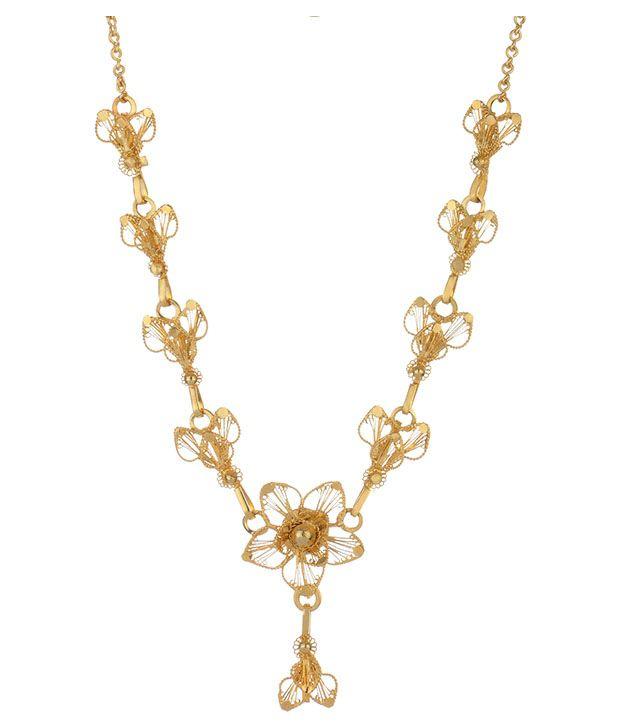 Aarohee Silver Necklace