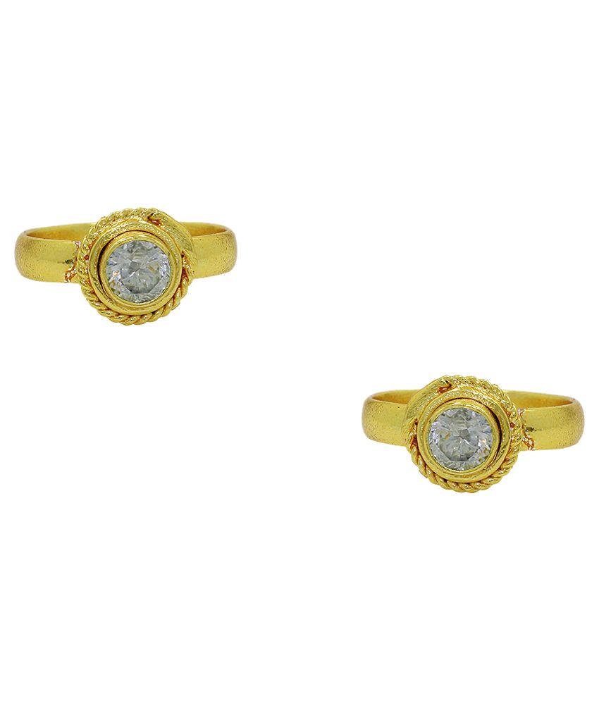 Frabjous White German Silver Toe-Ring