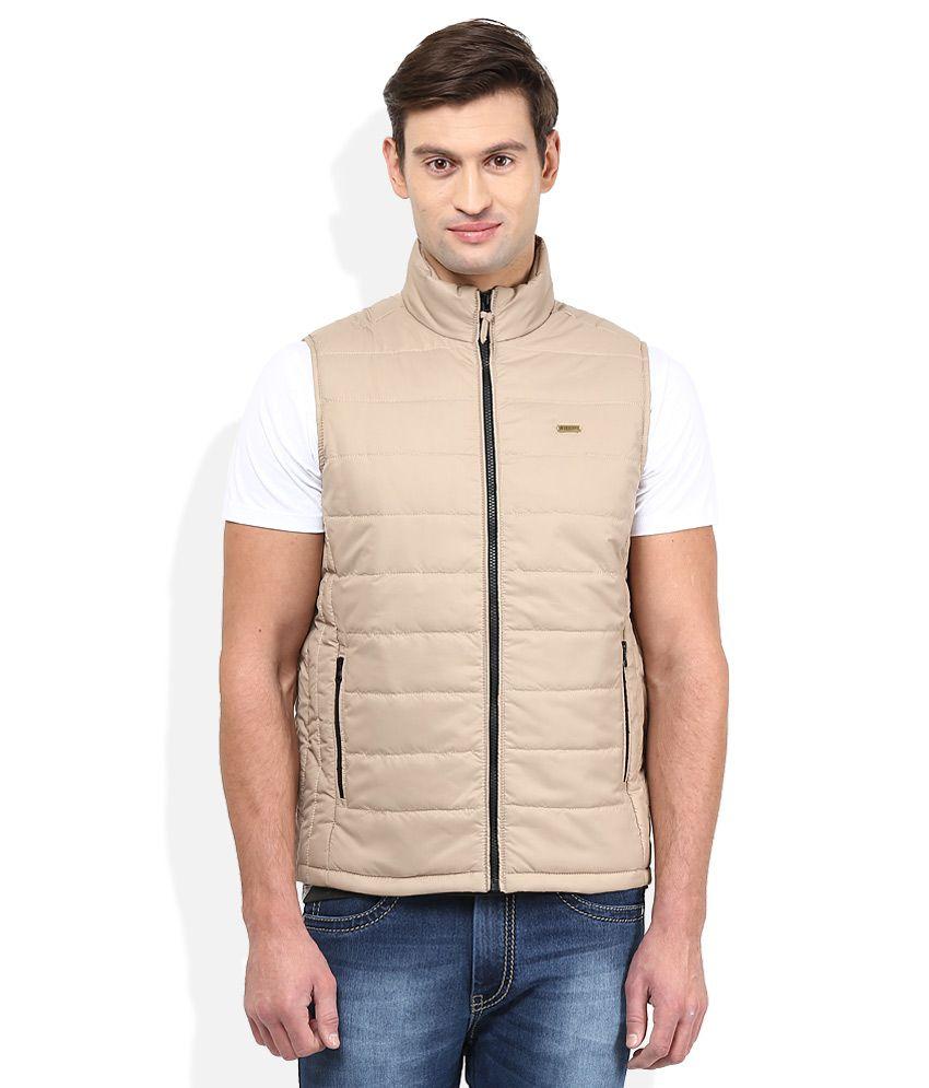 American Swan Beige Casual Winter Jacket