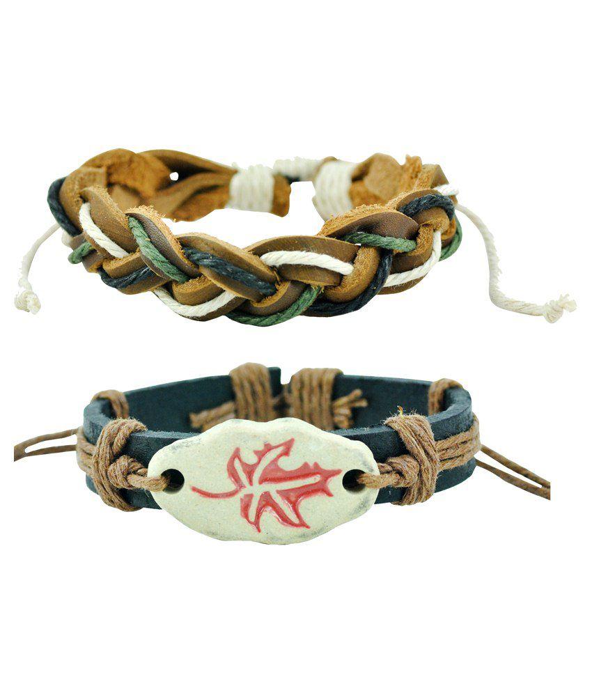 Alpha Man Multicolour Bracelet Set Of 2