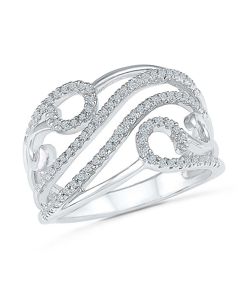 Radiant Bay 18Kt White Gold EGL Certified Diamond Ring