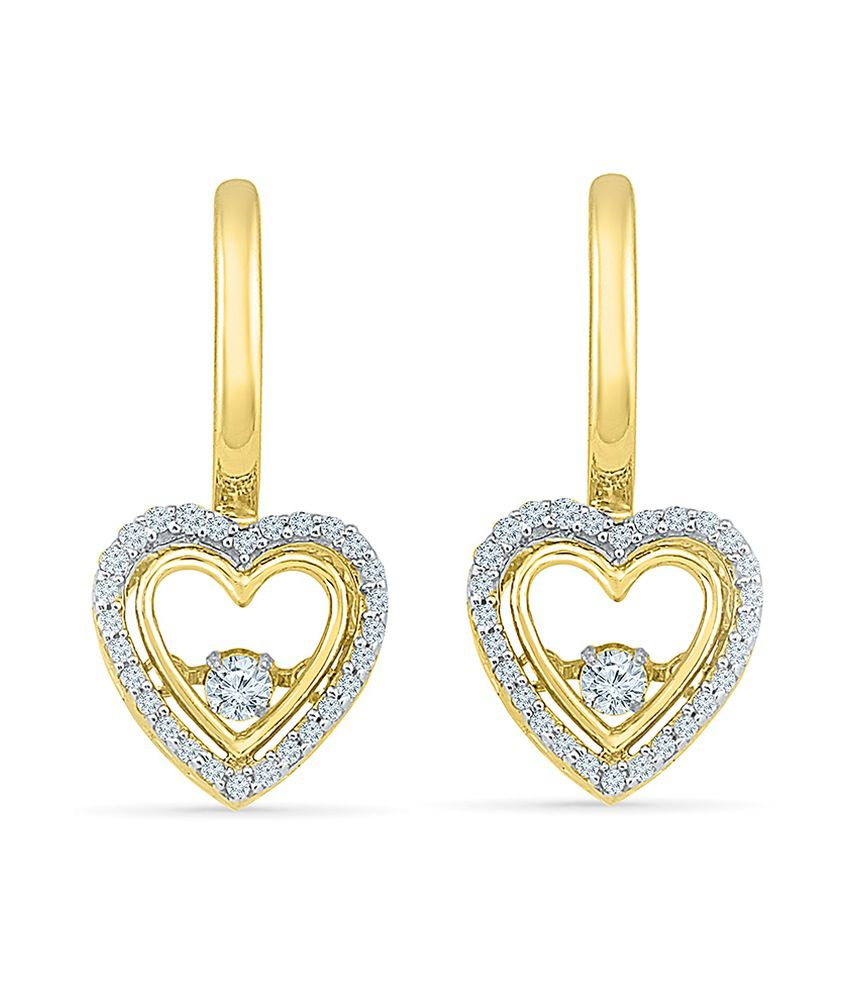 Radiant Bay 18kt Gold Diamond Drop Earrings
