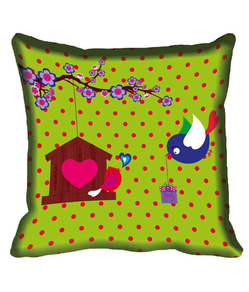 Mesleep Multicolor Satin Cushion Cover