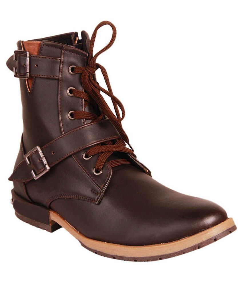 Gasser Brown Lace Boots