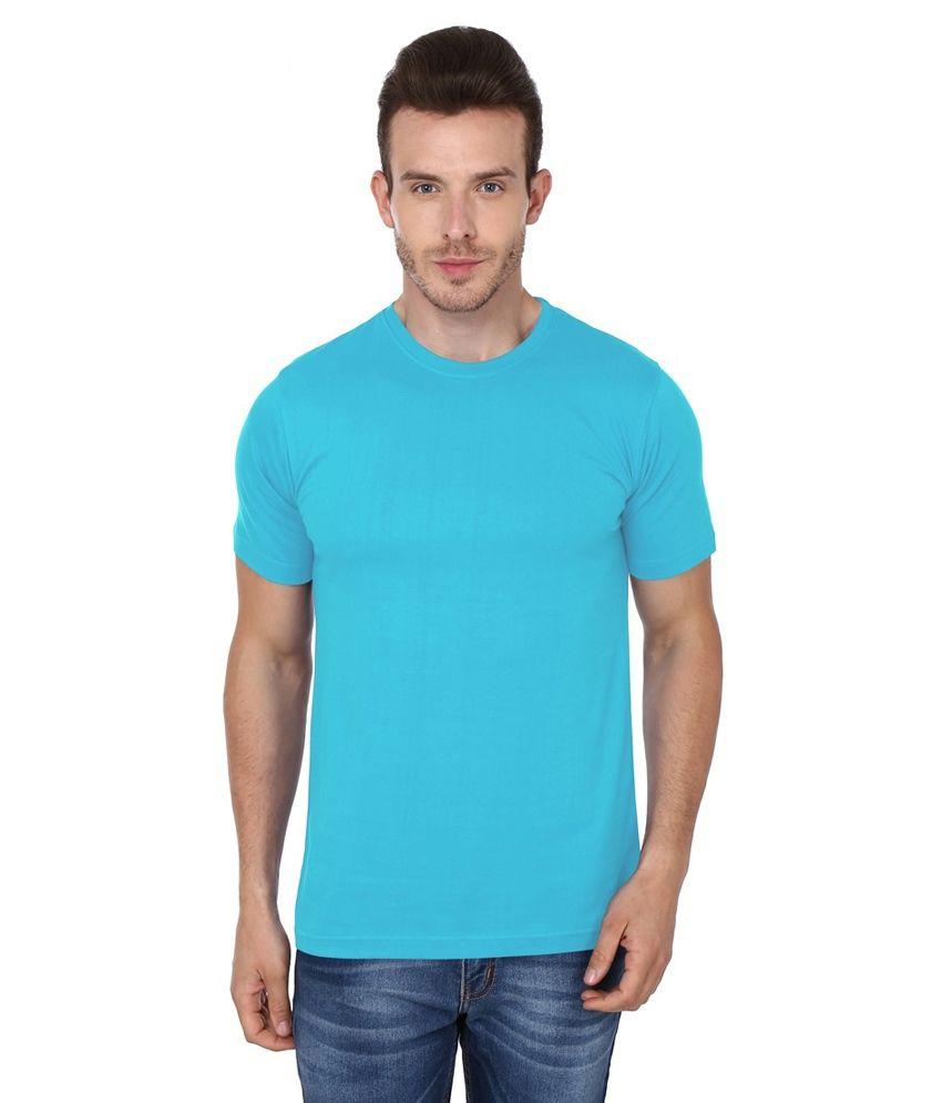 99tshirts Blue Cotton T-Shirt