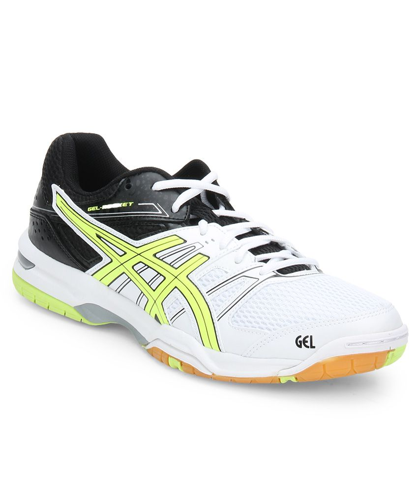 b8d3985316b64 Asics Gel Rocket 7 White Sport Shoes - Buy Asics Gel Rocket 7 White Sport  Shoes Online at Best Prices in India on Snapdeal