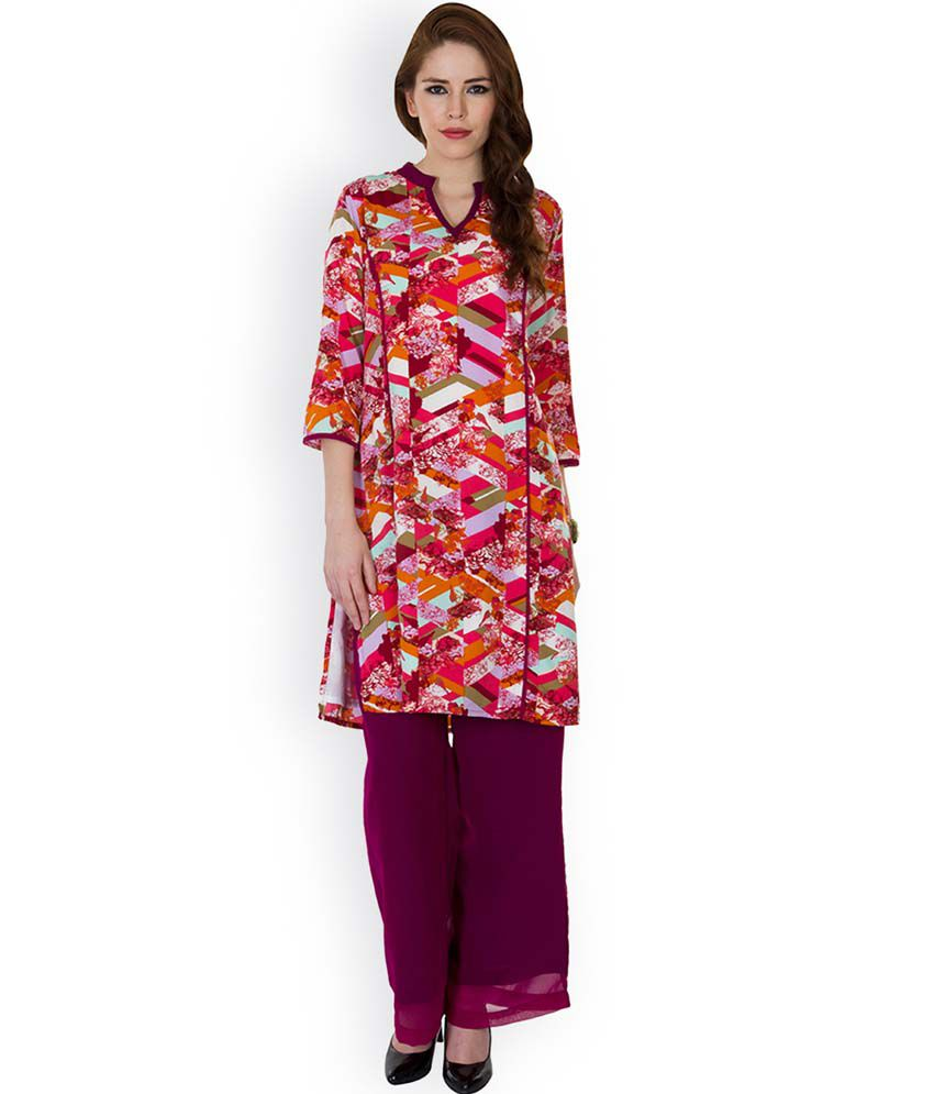 Ayaany Multi Cotton Stitched Suit