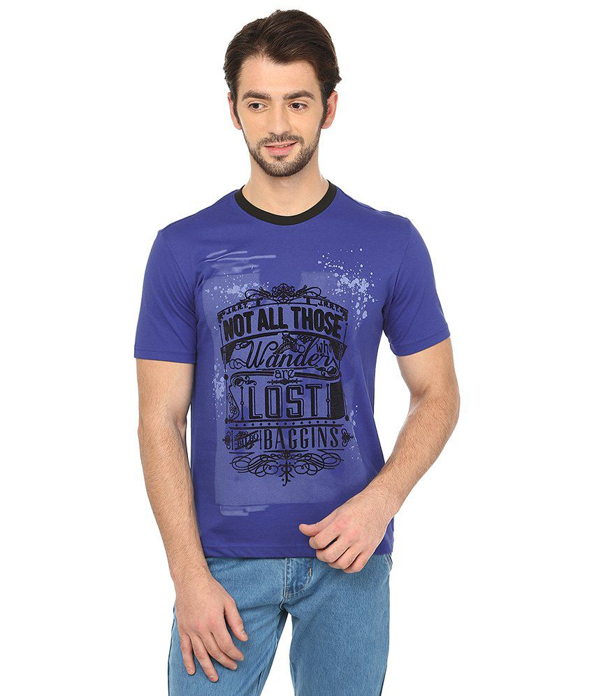 Date And Time Blue Cotton Blend T-Shirt - Pack of 2