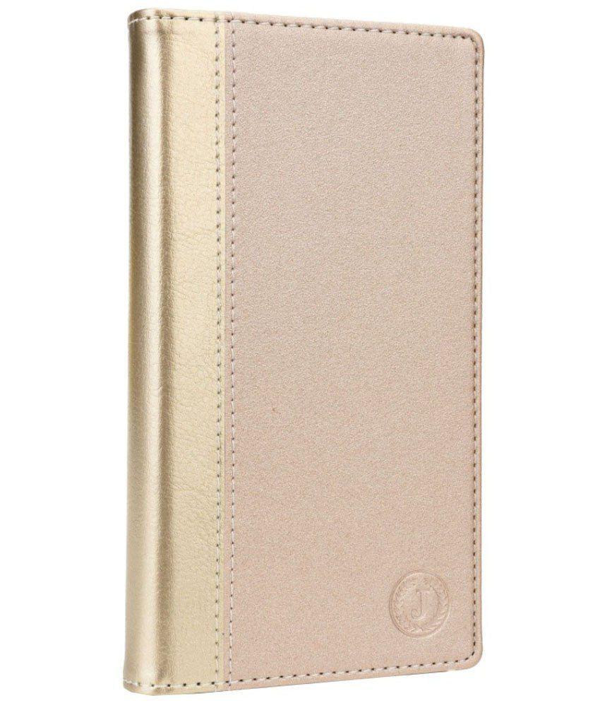 Jo Jo Flip Cover For LG bello - Golden