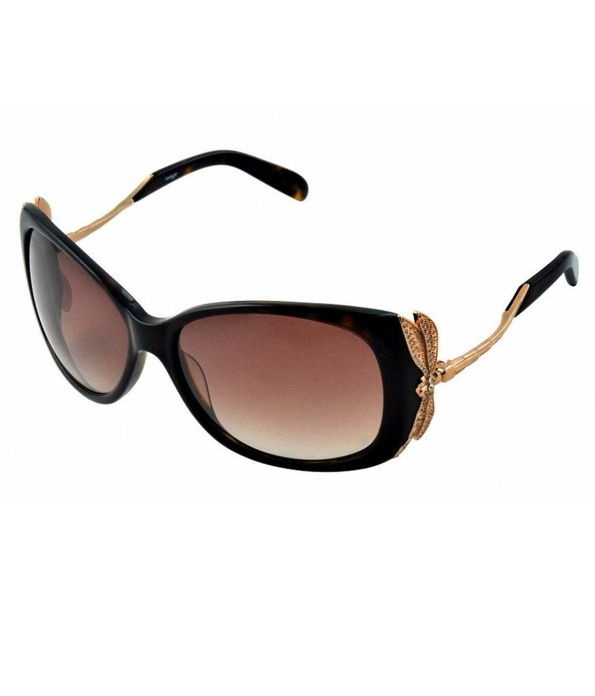 Image Brown Oval Sunglass Size:59-17-130