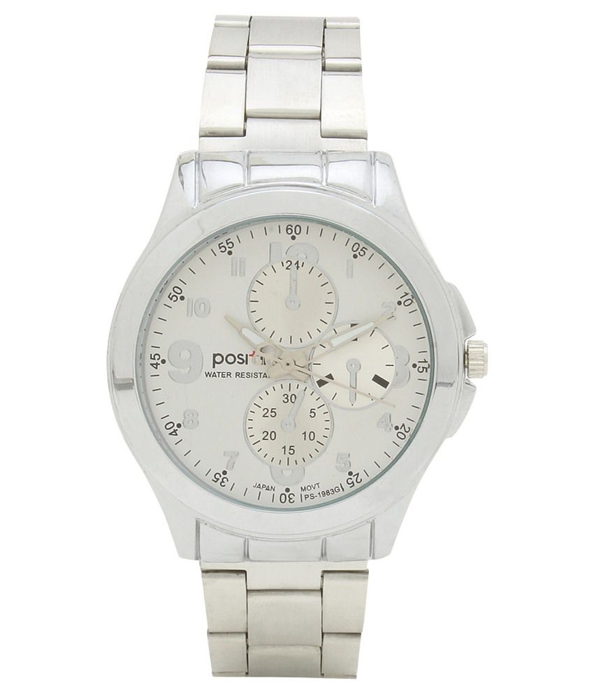 45f1c3064e0 Positif Silver Wrist Watch For Men - Buy Positif Silver Wrist Watch For Men  Online at Best Prices in India on Snapdeal
