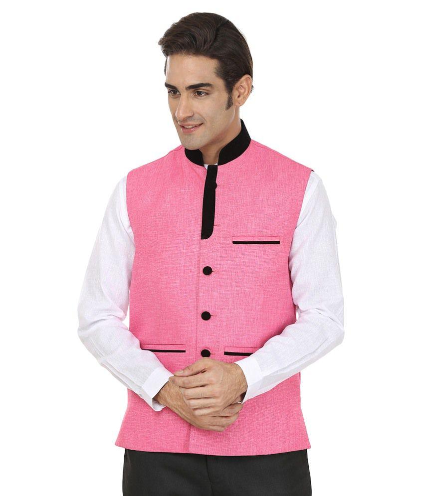 Wintage Pink Rayon Waistcoat