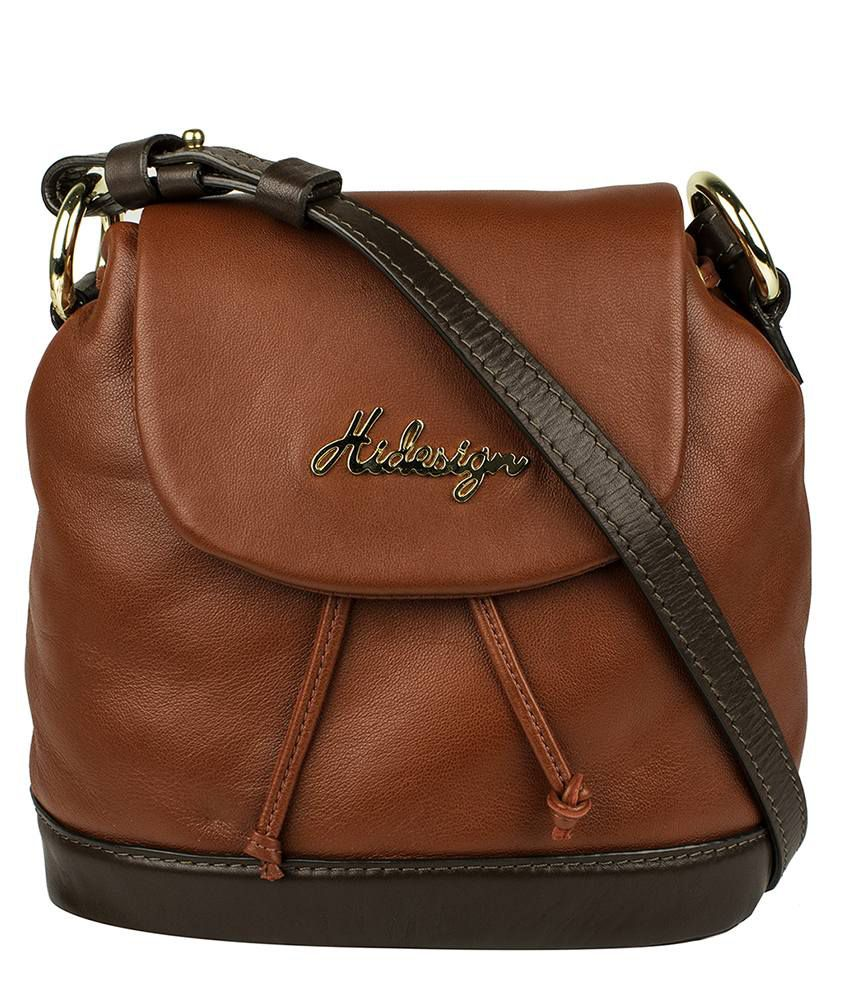 Hidesign Lucy 03 Brown Leather Crossbody Bag