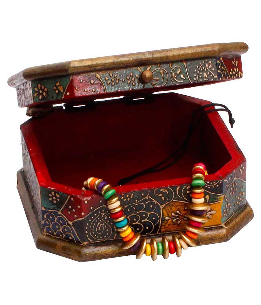Jaipur Raga Rajasthani Wooden Jewellry Cosmastic Handicraft Box