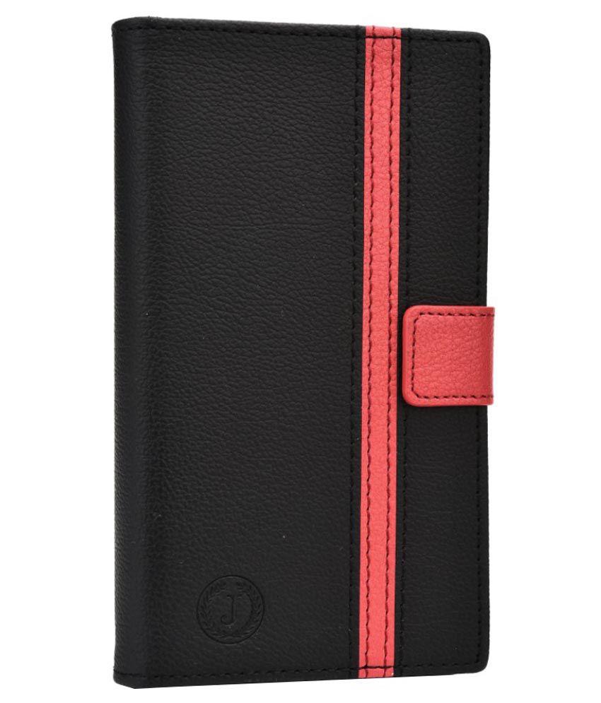 Jo Jo Flip Cover For Celkon Millennia Q5k Power - Black