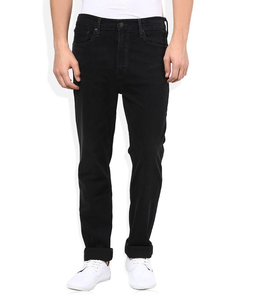 Levi's Black Regular Fit Jeans 522