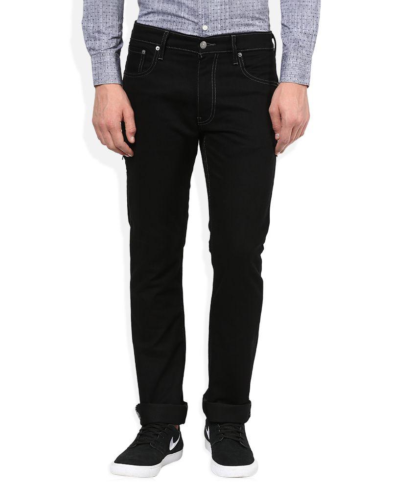 Levi's Black Raw Denim Slim Fit Jeans 65504