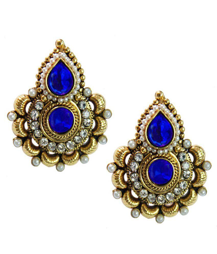 Pihu Blue  Fashion  Stud Earring