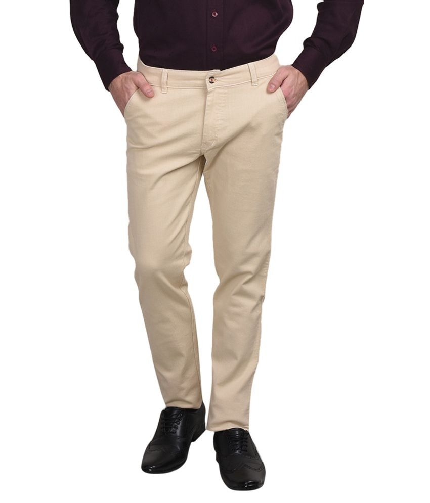 Golden Cloud Beige Regular Fit Jeans