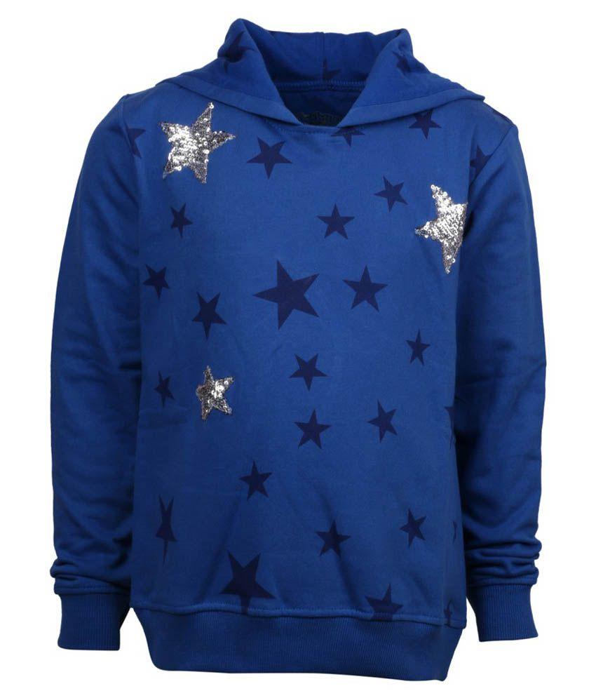 Joshua Tree Blue Cotton Sweatshirt