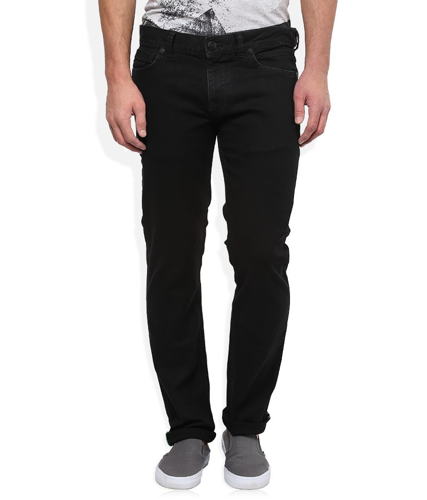 BreakBounce Black Slim Fit Jeans