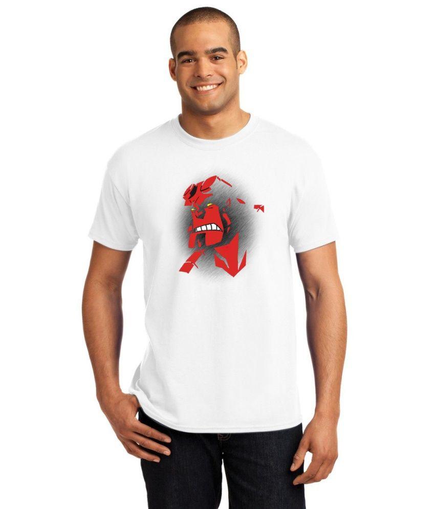 Shoper Shop White Polyester T-Shirt