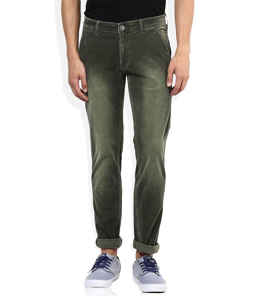 American Swan Grey Slim Fit Casual Trousers