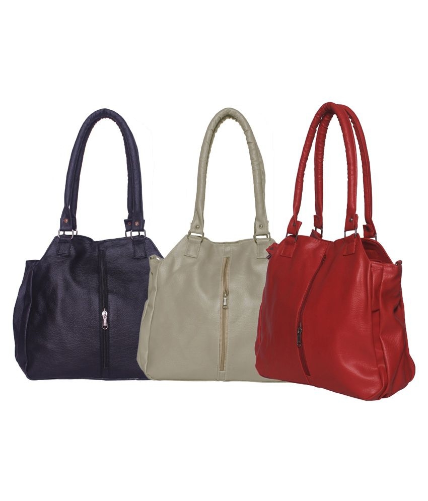 Arc Hnh Multicolour Hand Bag - Pack Of 3