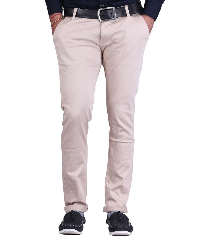 Ansh Fashion Wear Fashion Wear White Regular Fit Casual Wear Chinos
