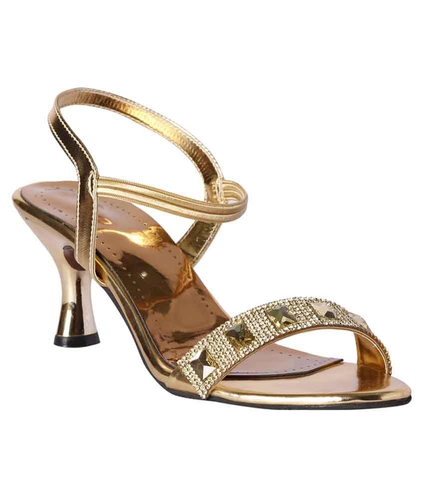 Pantof Golden Ethnic Sandals