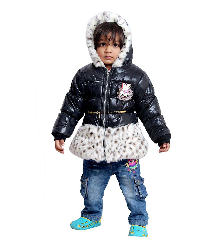 Tiny Toon Black Quilted & Bomber For Girls