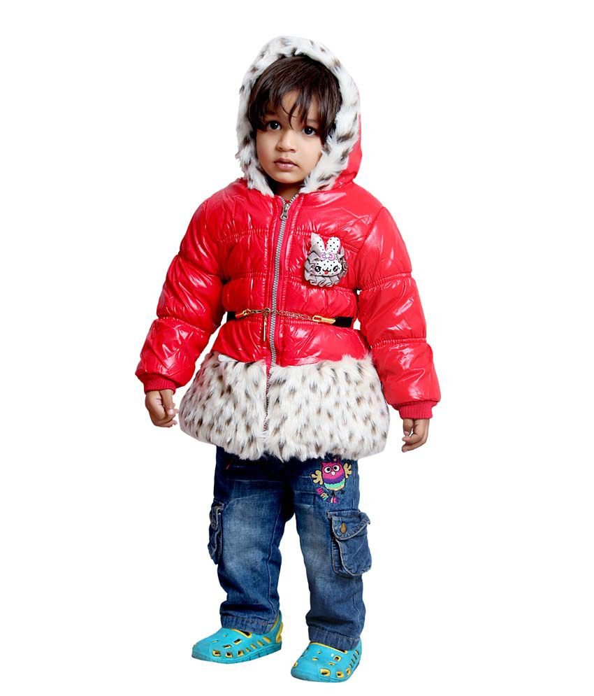 Tiny Toon Red Quilted & Bomber For Girls