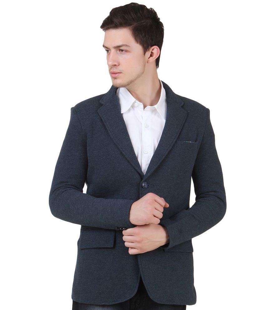 4Stripes Blue Casual Wear Blazer