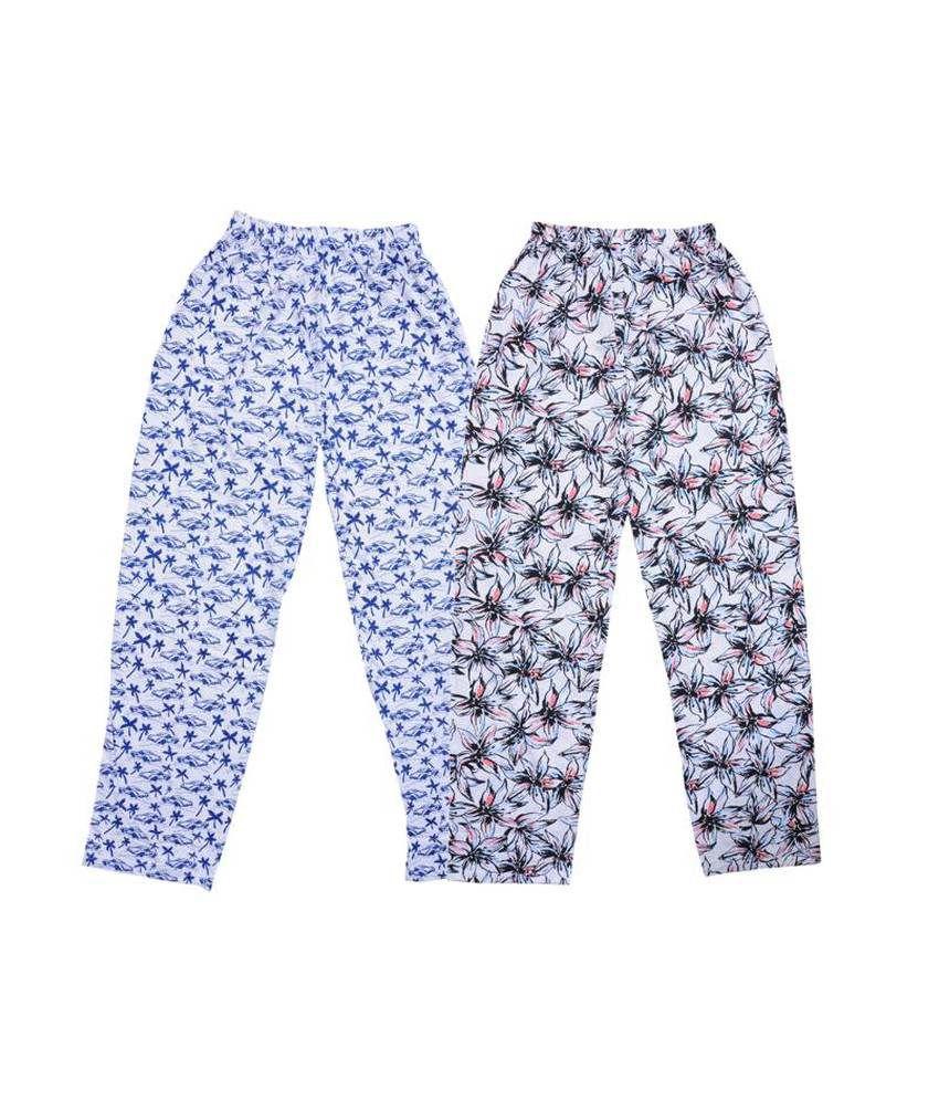 Bodymate Multicolour Cotton Blend Capris - Pack Of 2