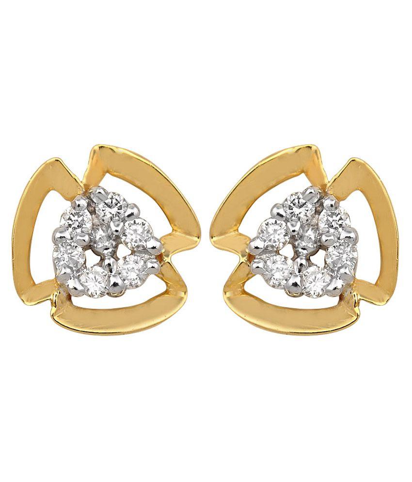 Sajdaa Diamonds 14Kt Gold Stud Earrings