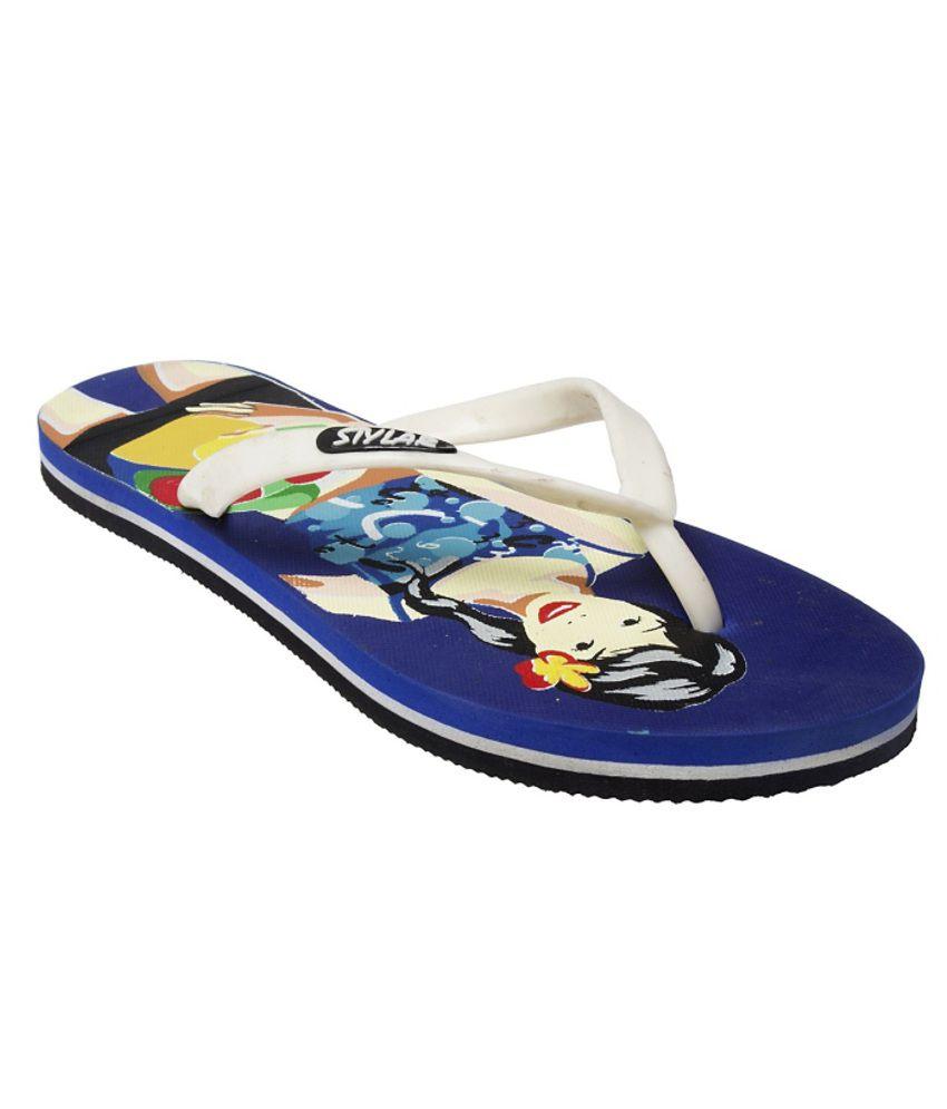 Stylar Fashionable Navy Flip Flops
