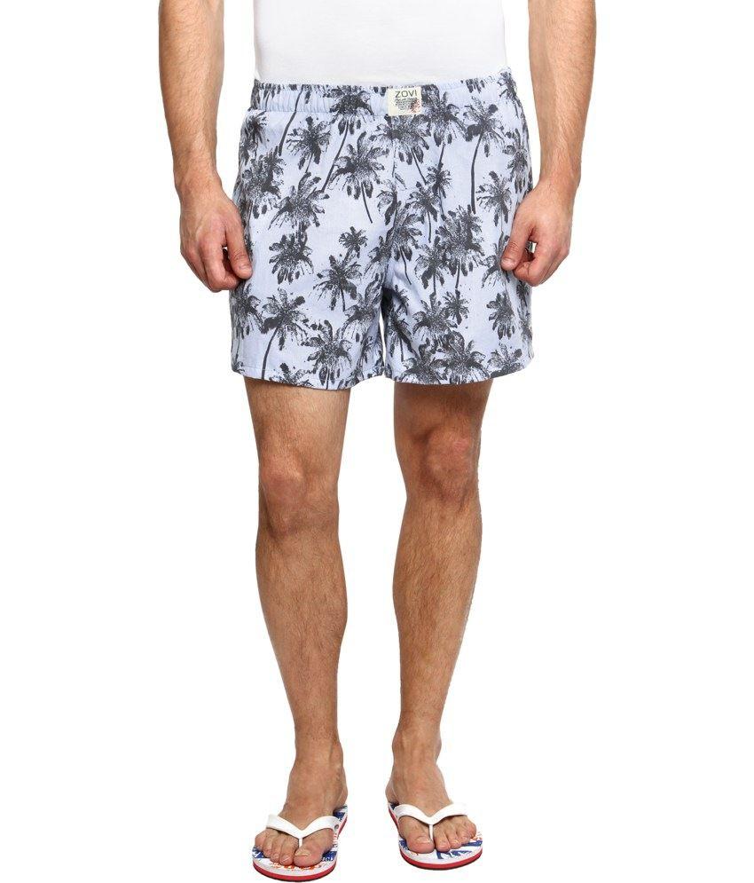 Zovi Blue Cotton Shorts