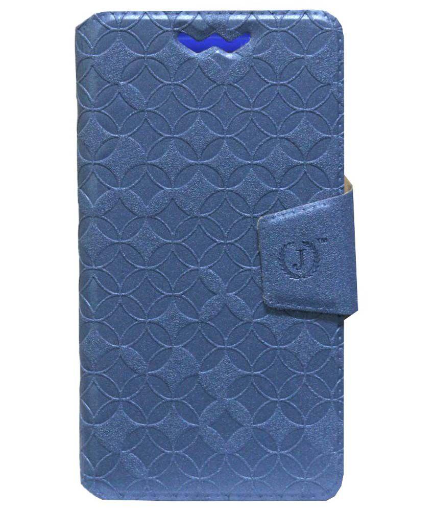 Jo Jo Flip Cover For Micromax Bolt A075 - Blue