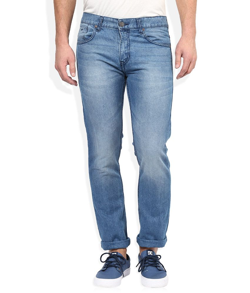 Newport Blue Light Wash Slim Fit Jeans