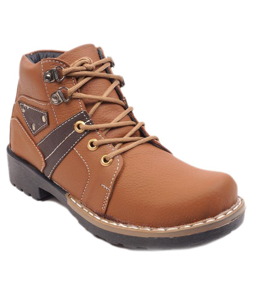 Petaled Boot Shoes Brown Lace Boots