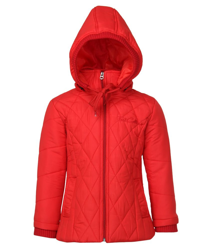 Fort Collins Red Nylon Hooded Jacket