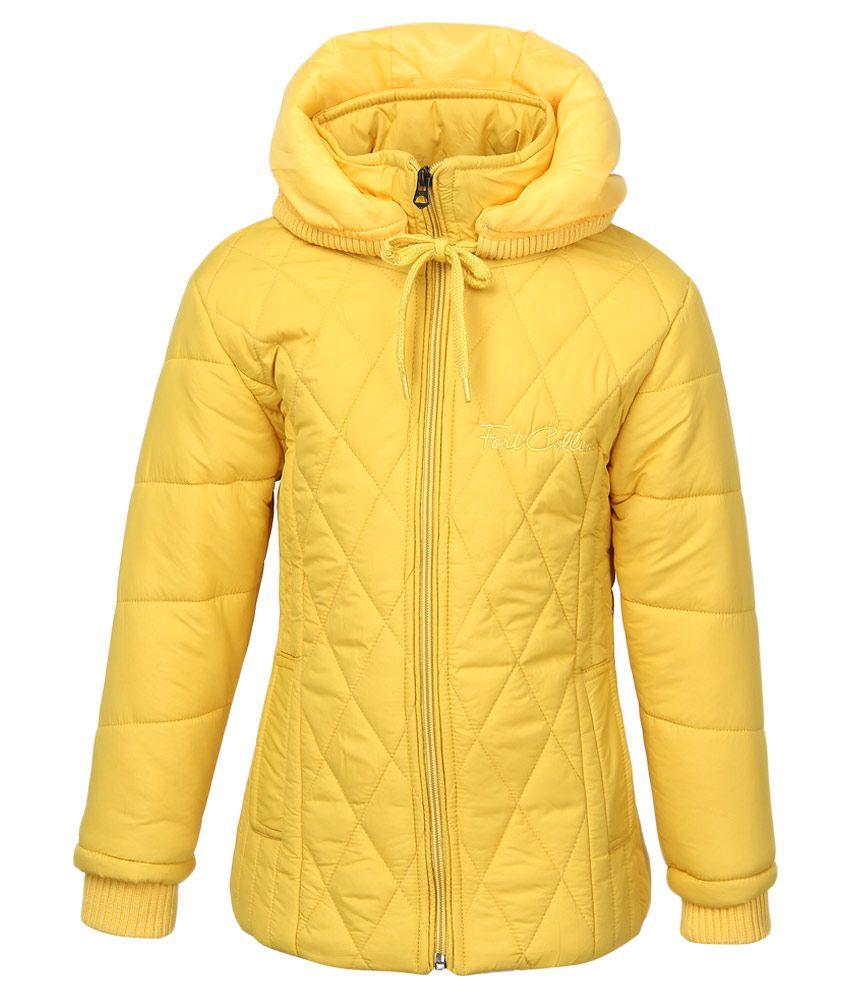 Fort Collins Yellow Nylon Hooded Jacket