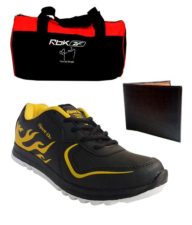 Spot On Men's Sport Running Shoes Reebok Gym Bag And Wallet Combo