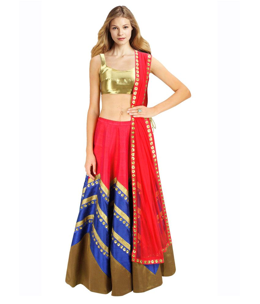 0a910c0f0f Fancydresswale Red Cotton Silk Lehenga - Buy Fancydresswale Red Cotton Silk Lehenga  Online at Best Prices in India on Snapdeal