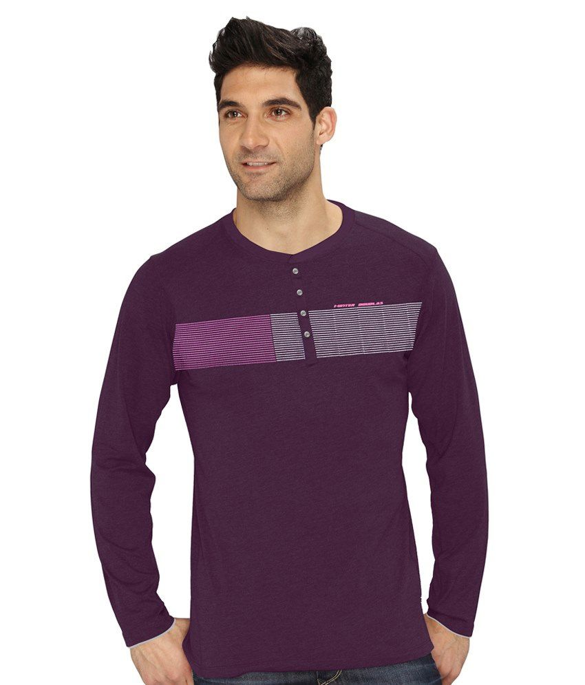 Hd Hunter Douglas Purple Cotton Blend T Shirt