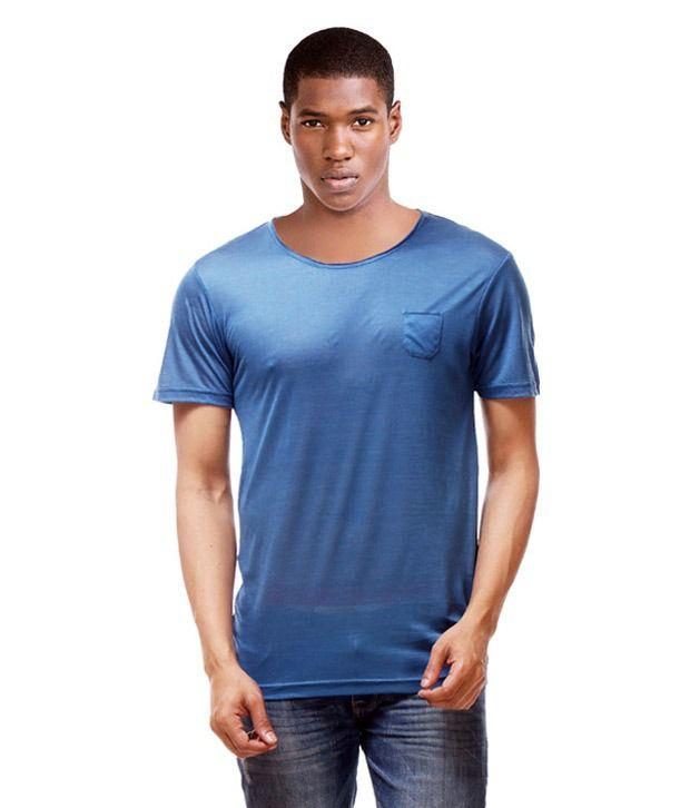 Hemd London Blue Cotton Blend Half Sleeves T Shirt - Pack of 2