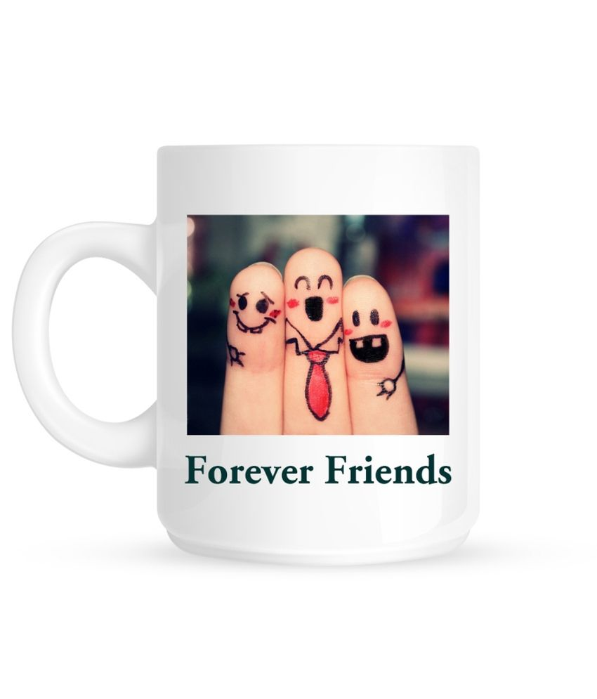 Huppme Forever Friends White Ceramic 350 ml Mug