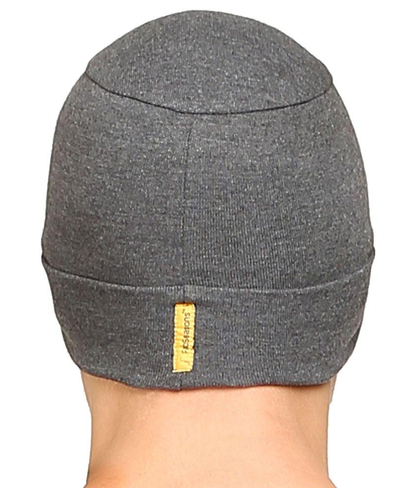 2e39c8bd3b5 Fabseasons Gray Cotton Winter Cap - Buy Online   Rs.